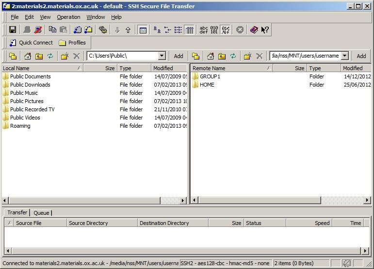 SecureShell file transfer
