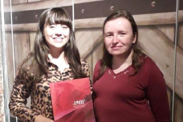 Ellie Howland with supervisor Prof Hazel Assender