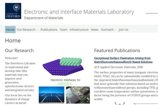 Electronic and Interface Materials Laboratory