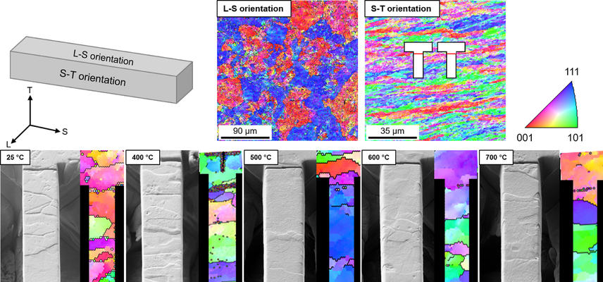 EBSD mapping of cantilever samples