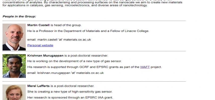 Surface Nanoscience Group