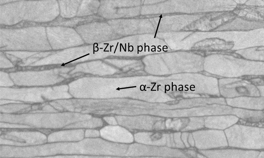 Microstructure of ZrNb alloy