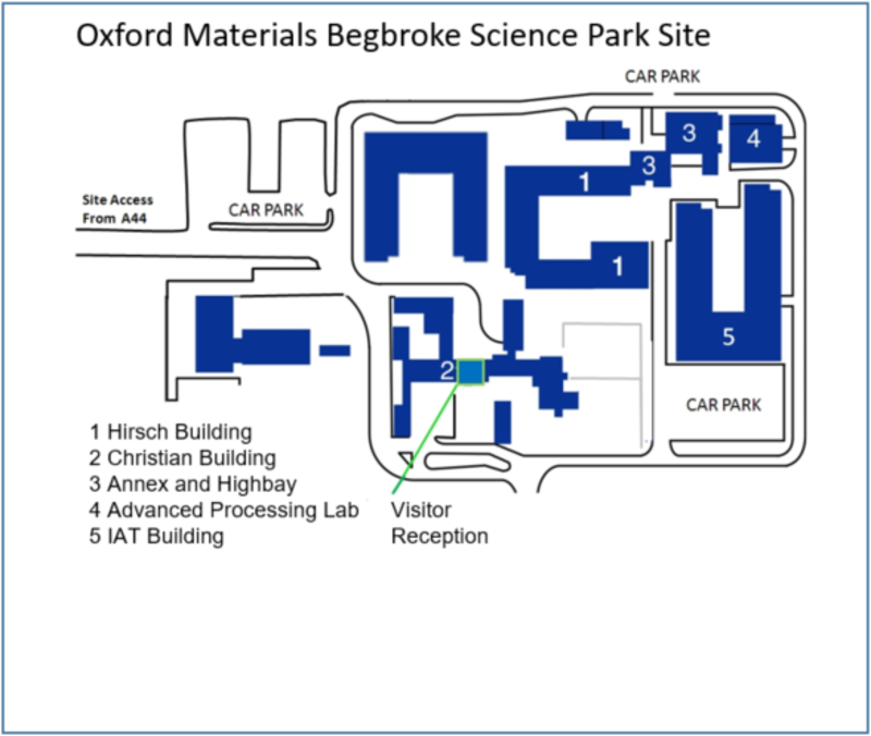 Oxford Materials Begbroke Site Map