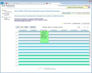 Example iLab booking