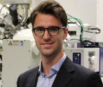 Chris Magazzini in his lab