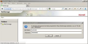 NetStorage login
