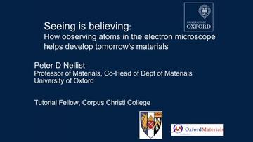 """""""Seeing is Believing"""" outreach talk"""